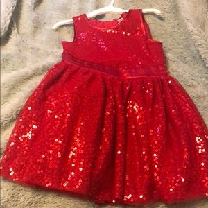 Red Christmas Dress Size 3T. BNWT